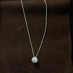 Diamond Pendant Necklace 14K White Gold .20-.35 ct